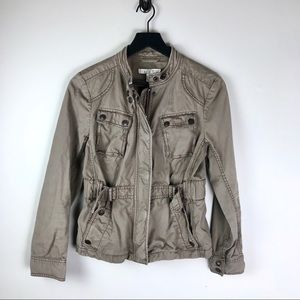 Loft Ann Taylor cinch waist utility jacket
